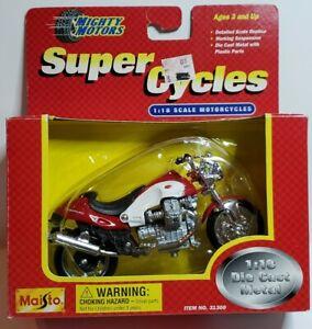 Maisto Mighty Motors Super Cycles MOTO GUZZI V10 CENTAURO-RED/WHITE #31300