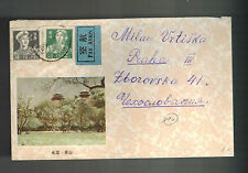 1958 China Illustrated Cover to Prague Czechoslovakia