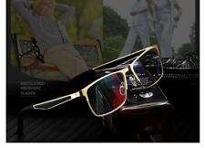 Fashion Bifocal Transition Grey Reading&distance glasses Anti blue light Gold