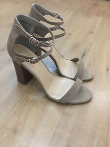NEW LOOK LADIES SUEDE HIGH HEELED SANDALS/SHOES, SIZE 7, Worn Once