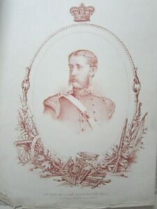 Original 19th Century Lithograph Captain WD Bell VC 23rd RWF Crimea 1854