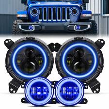 9 Led Headlights Fog Lights For Jeep Wrangler Jl 18 20 Jeep Jt Gladiator 19 20