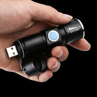 RICARICABILE USB ultra luminosa a LED Trave messa a fuoco Zoom Torcia Elettrica Torcia 3 modalità UK