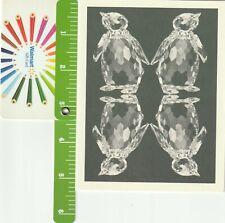 Original Swarovski Silver Crystal December Birthday Card Penguin Rare