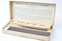 """Appareil pour apprendre le Morse """"Le Lectaphone"""" avec boite, bandes perforées..."""