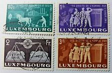 4 X Timbre Stamp Luxembourg 1951 YT N° 443 444 445 447 Droits de l'Homme Europe