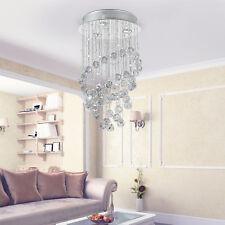 Homcom Ceiling Light Crystal Lamp Rain Drop Chandelier Pendant Flush Lighting