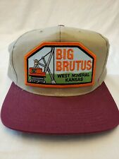 Vintage Big Brutus West Minerals Kansas excavating equipment truckers cap snapba
