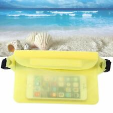 PVC Yellow Waterproof Waist Pack Dry Swimming Boating Sport Beach Pouch Bag