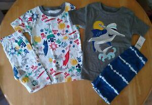 Carter's Boys 4-Piece Shark Themed Pajama Set/NWT/Size 6/6A