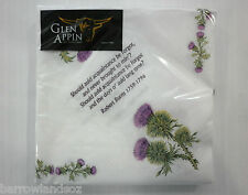 "Scottish Napkins, ""BURNS SUPPER"" - Thistle / Robert Burns with Burns Poems"