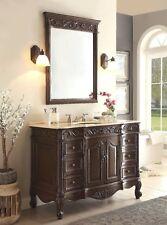 48� Cream Marble Beckham Bathroom Sink Vanity & Mirror Set Sw-3882M-Tk-48/Mir