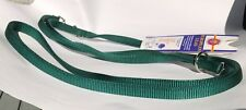 Euro Dog Lead - Double ended Green Webbing Lead - 109cm to183cm, One Dog or Two