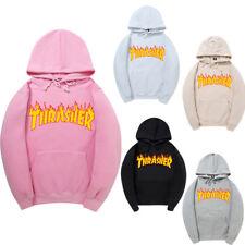 Thrasher Flame Logo Hoodie Sweatshirts Top Pullover Skater Mens Hoodie Jacket