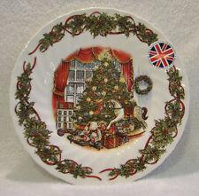 "QUEEN'S ""Christmas Morning"" 8"" SALAD/DESSERT PLATES, Set of (4)"