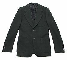 $1,699 Italy DOLCE & GABBANA Wide-Lapel Knit Green Blazer Jacket 46-IT 36 Small