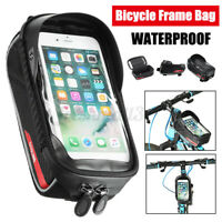 Bicycle Front Frame Bag Tube Bag Bike Phone Pannier Pack Fit Phone Belo