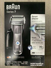 Braun Series 7 Electric Foil Shaver Wet And Dry Razor Clean Charge Station. Open
