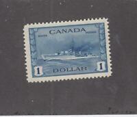 CANADA (MK3400) # 262 VF-MNH  $1 1942 TRIBAL CLASS DESTROYER /DEEP BLUE CAT $150