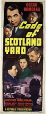 "Code of Scotland Yard (1948)  Original Insert (14x36"") Oscar Homolka"
