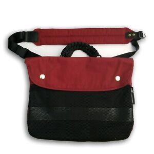 Puma Mihara Yasuhiro Twin Satchel Messenger Shoulder Bag Red Burgundy Cabernet