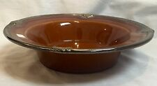 "Certified International Kari Design 11""  Large Rim Bowl - Embassy Brown"