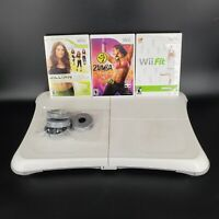 Nintendo Wii Fit Balance Board RVL-021 with Wii Fit + 2 Games Genuine TESTED