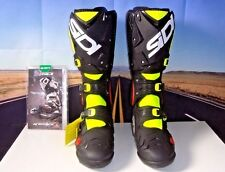SIDI Crossfire 2 SR Boots MX Dirt Bike Fluorescent Yellow Blk Euro 43 US 9.5 HB
