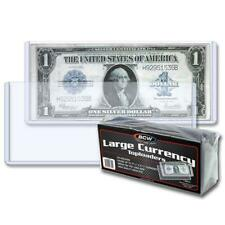 (Case - 500 Sleeves) Currency Topload Holder - Large Bill
