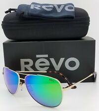 NEW Revo Relay sunglasses RE 1014GF 04 GN 59mm Gold Green Mirror Aviator RE1014
