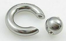 1 Steel Captive Ring CBR 4g = 5mm - Inside Diameter 12mm - Spring Ball 10mm