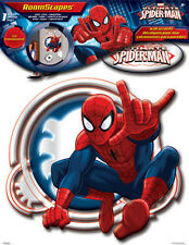 REFLECTING SPIDERMAN MIRRORED wall stickers 3 lightweight acrylic mirror decals