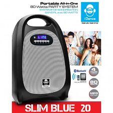 Bluetooth Lautsprecher tragbar All-in-One USB SD 80 Watt iDance Slim Blue 20
