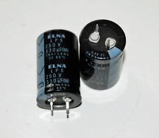 5pcs 330uF 250V  Electrolytic Snap In Cap Elna LP5 10mm L/S 22x35