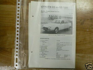 C15-CITROEN GS EN GS1220 BERLINE,BREAK,BREAK SERVICE 19