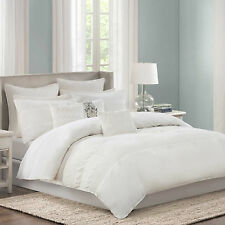 ECHO New York CRETE WHITE 5PC Cal KING COMFORTER SET