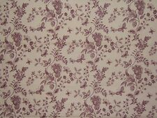 "Lee Jofa ""Petite Trianon Toile"" vintage by the yard color lavender on cream"