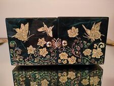 Korea Traditional Jewelry Box Wood Butterfly Inlaid Mother Of Pearl Small size