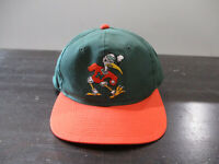 VINTAGE Miami Hurricanes Hat Cap Snap Back Green Orange Sports Specialties 90s