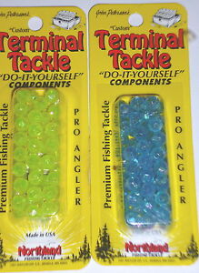 Northland Tackle #6 Faceted Beads (Lot of 2-Yellow/Blue-50/pack)