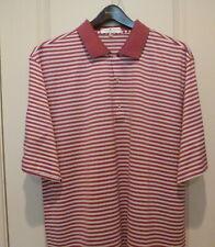 Fairway & Greene Golf Shirt ...XL..Pink/White stripe