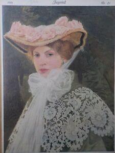 JUGEND, 23-1908. Jugendstil. Edward Okun, Erotik, Nixen, Zwerge