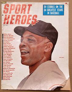 SPORT HEROES magazine WILLIE MAYS 1964 Vol. 1 #4. MANTLE