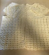 Lady's Hand Crocheted Sweater Vest, Cream Color, Bust 34""