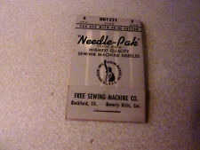 Nip Nos 4 Pack Free Sewing Machine Co. Type Dd1221 Size 2 Quality Needle-Pak