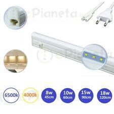 Barra led sottopensile 220V lampada cucina con interruttore luce 45 60 90 120 cm