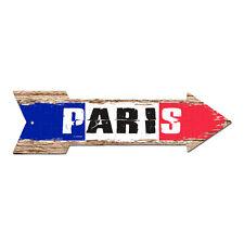 AP-0309 PARIS Arrow Street Tin Chic Sign Name Sign Home man cave Decor