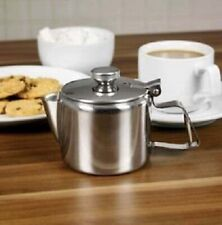 Boxed  0.3 Litre Stainless Steel Mirror Finish Teapot 12fl.oz