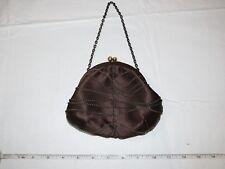 BCBG Max Azria Brown with Chains Evening Bag mini puse clutch chain strap
