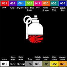 GRENADE RISING SUN JAPAN Vinyl JDM Decal JDM Sticker Window Car